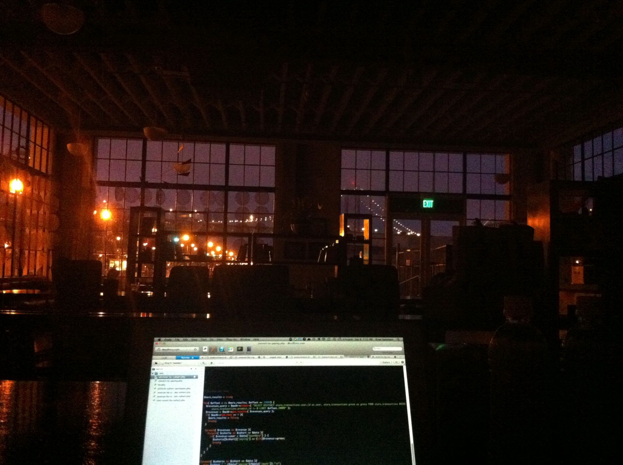 Automattic office inside by night - Evan Solomon